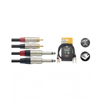 Kabelis 2xRCA - 2x JACK Stagg NTC1.5PCMR 1,5m Stagg