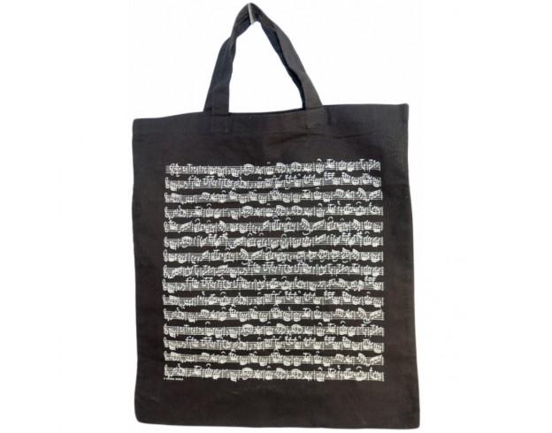 Medžiaginis maišelis su natomis juodai/baltas Petz