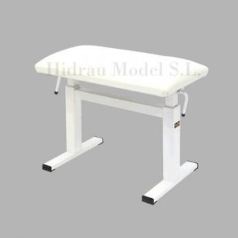 Kėdutė hidraulinė pianistui nuožulni sėdimoji dalis (balta) Hidrau Model
