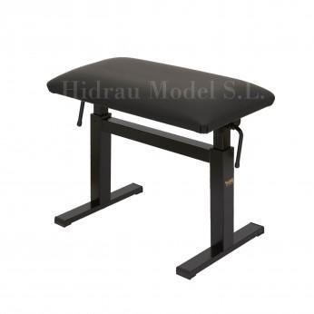 Kėdutė hidraulinė pianistui nuožulni sėdimoji dalis (juoda) Hidrau Model