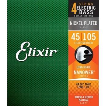 Stygos bosinei gitarai Nanoweb 45-105 Elixir