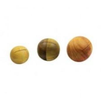 Barškutis - kamuoliukas su įpjovom 4cm Dan Moi
