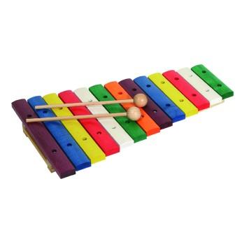 Ksilofonas 13 natų medinis spalvotas 11205 Goldon