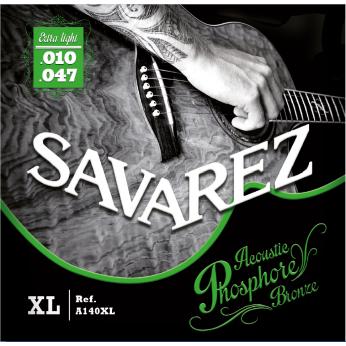 Stygos akustinei gitarai A140XL phosphore bronze 10-47 Savarez