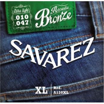 Stygos akustinei gitarai A130XL bronze 10-47 Savarez