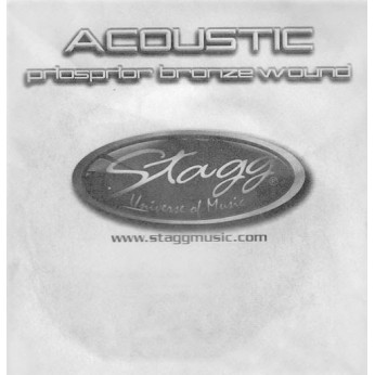 Penkta styga akustinei gitarai Stagg